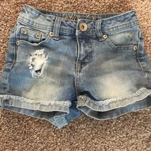 Justice 10S Blue Jean Shorts